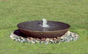 מזרקה לגינה מפרוסת אבן