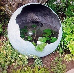 מזרקות לגינה מכדור בטון